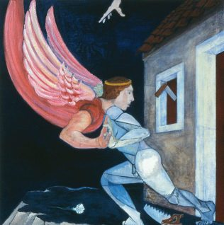 Carpenter Wrestling with an Angel
