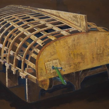 Cat Boat Under Construction
