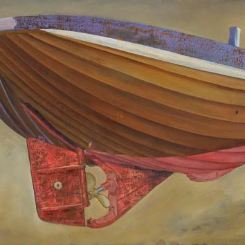 Stern of a Hastings Beach Boat