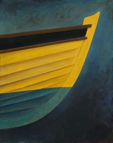 Bow of a Yellow Boat