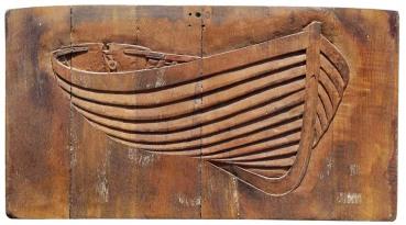 Wooden Boat relief