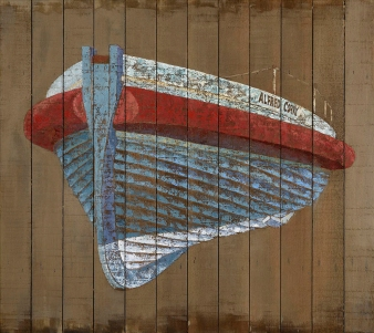 Southwold Lifeboat on cedar boards